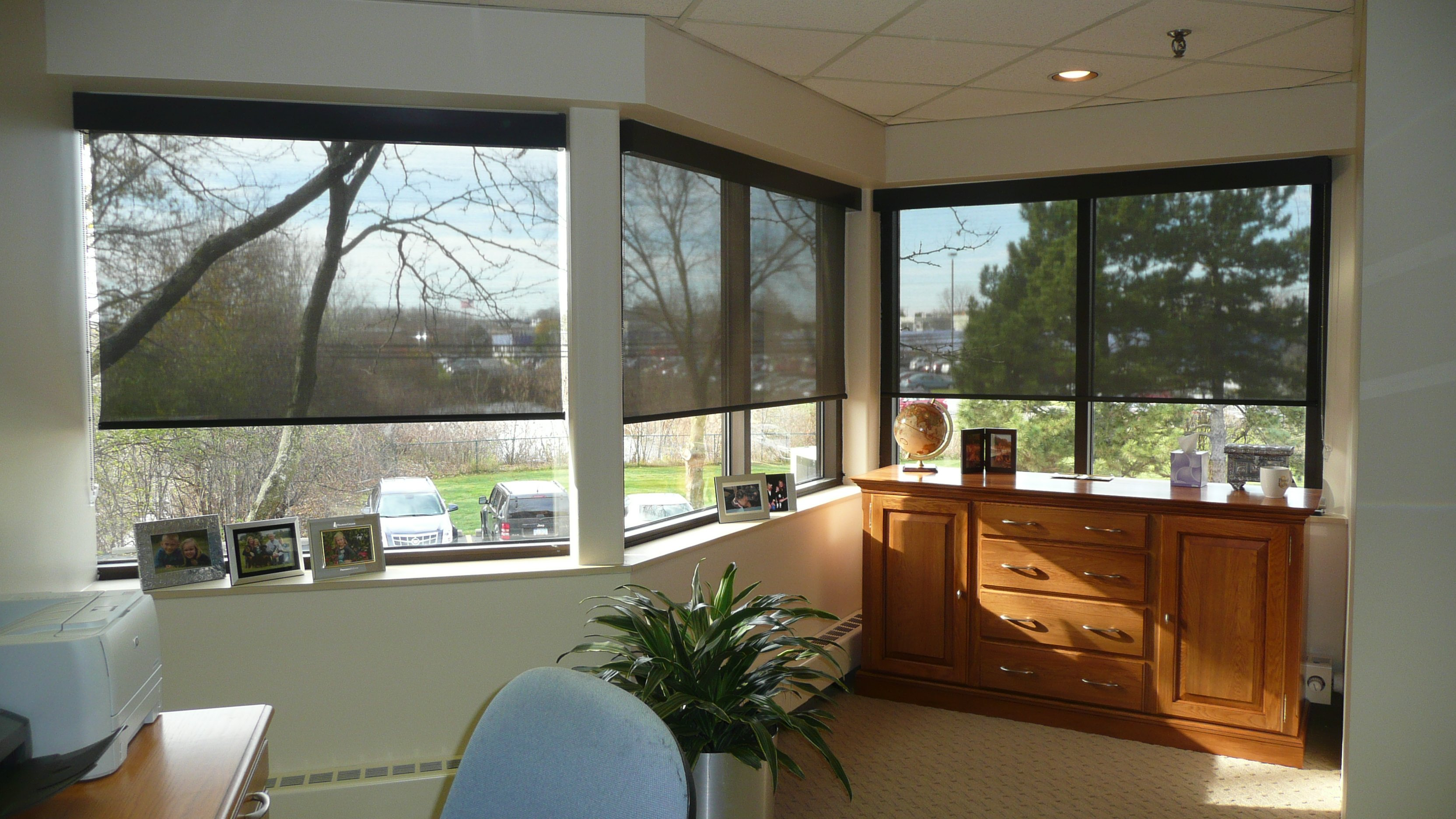 Commercial Solar Shades Ann Arbor Michigan Office