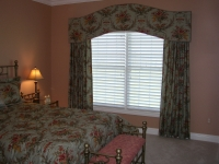 Floral Shaped Cornice with matching Drapery panels