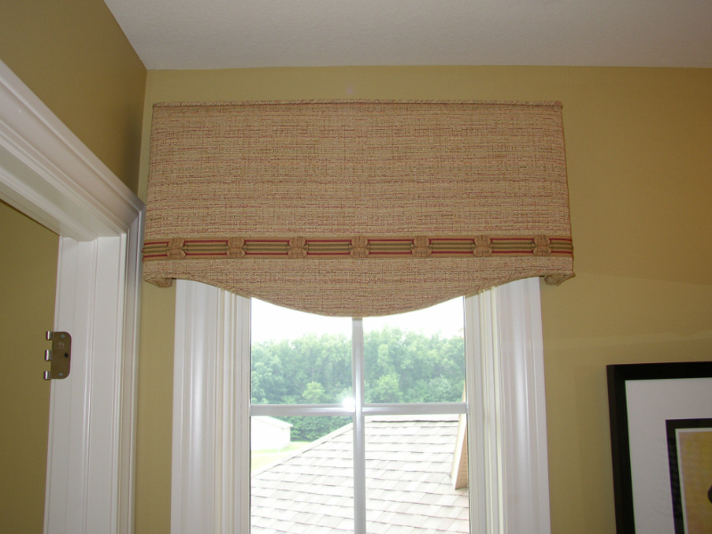 Shaped Cornies Custom Drapery And Blinds Michigan
