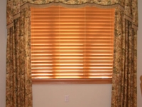 Shaped Valance with horns and statioanry panels