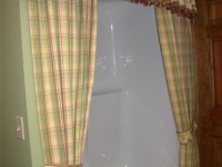 Rod Pocket Valance and Panels Shower Curtain