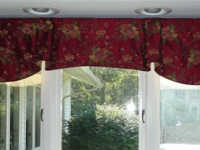 Board mounted Camille Valance with contrast lining
