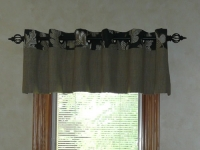 Grommet Valance hung decorative hardware