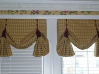 Relaxed Roman Valances with decorative cording