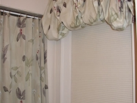 Rod Pocket Balloon Valance and matching Shower Curtain