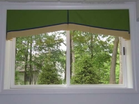 Tapered Box Pleat Valance with contrast banding