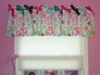 Flat Panel Valance attached to rod with ribbons