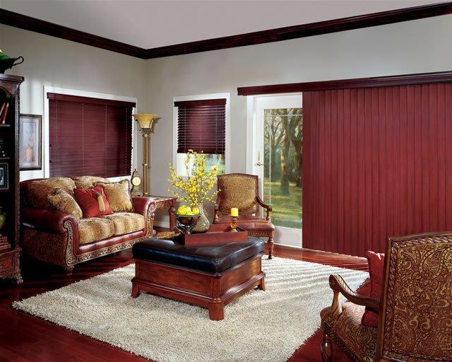 Hunter Douglas vertical wood blinds