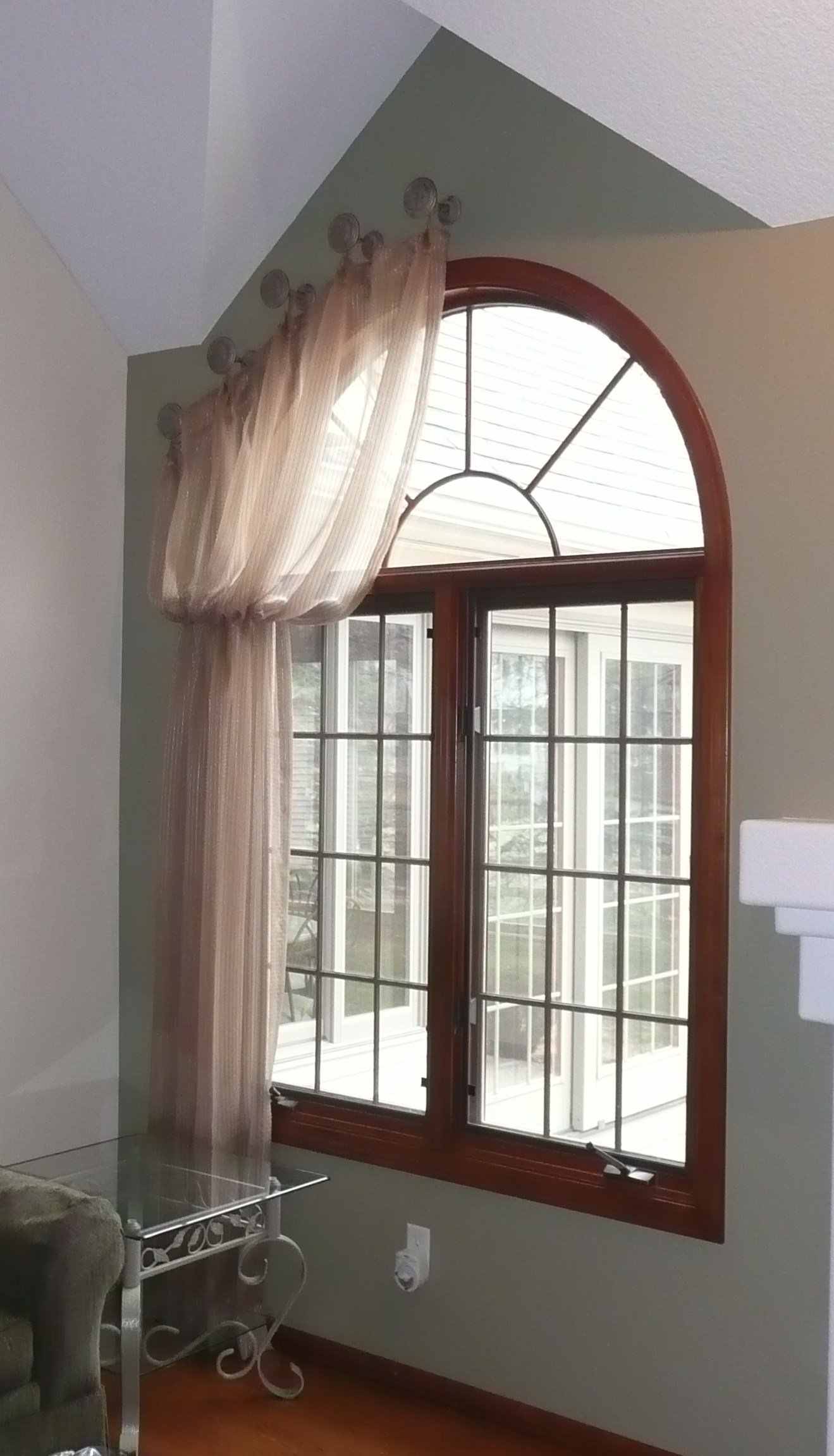 Tab top curtains for arched windows curtain menzilperde net for Arched bay windows
