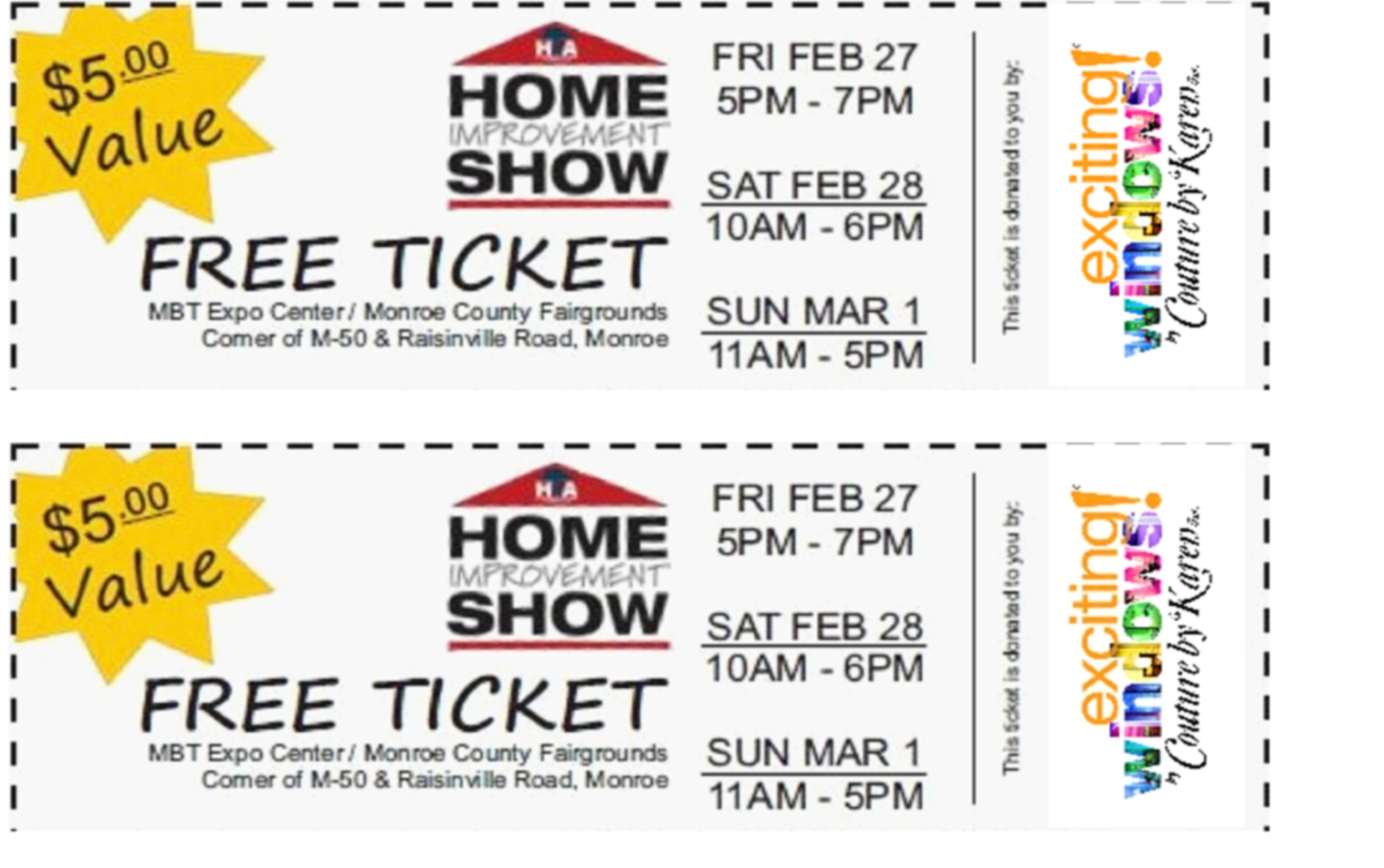 2015 HBA of Monroe Home Improvement Show - Complimentary tickets